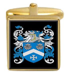 【送料無料】メンズアクセサリ― スコットランドカフスボタンボックスコートmacphee scotland family crest surname coat of arms gold cufflinks engraved box