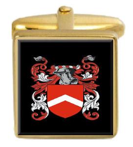 【送料無料】メンズアクセサリ― スコットランドカフスボタンボックスコートquirie scotland family crest surname coat of arms gold cufflinks engraved box