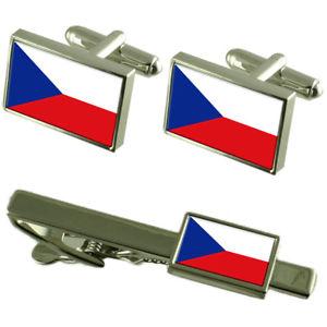 【送料無料】メンズアクセサリ― チェコカフスボタンタイクリップマッチングボックスセットthe czech republic flag cufflinks tie clip matching box gift set