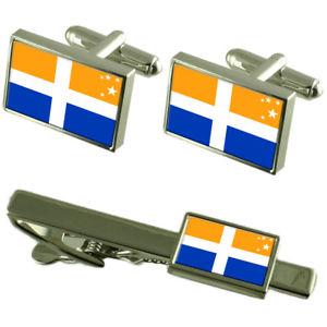 【送料無料】メンズアクセサリ― カフスボタンタイクリップボックスセットisles of scilly county england flag cufflinks tie clip box gift set