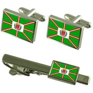 【送料無料】メンズアクセサリ― クリチバカフスボタンタイクリップボックスセットcuritiba city south region flag cufflinks tie clip box gift set
