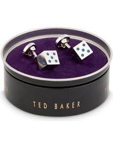 【送料無料】メンズアクセサリ― テッドベーカーシルバーサイコロカフスボタンted baker polished silver tone dice cufflinks bnib
