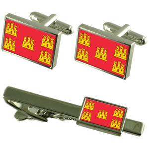【送料無料】メンズアクセサリ― ポワトゥーシャラントフランスカフスボタンタイクリップボックスセットpoitou charentes province france flag cufflinks tie clip box gift set