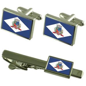 【送料無料】メンズアクセサリ― ジョアンビルサンタカタリーナカフスボタンタイクリップボックスセットjoinville city santa catarina state flag cufflinks tie clip box gift set