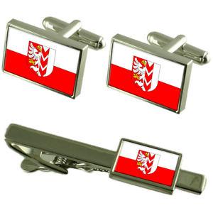 【送料無料】メンズアクセサリ― チェコカフスボタンタイクリップボックスセットopava city czech republic flag cufflinks tie clip box gift set