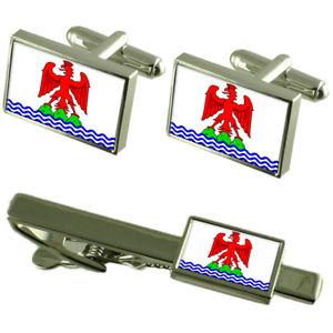 【送料無料】メンズアクセサリ― ニースフランスカフスボタンタイクリップボックスセットnice city france flag cufflinks tie clip box gift set