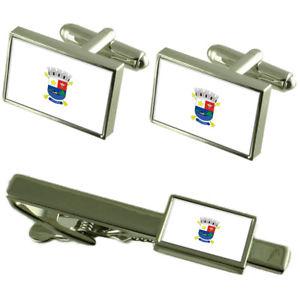 【送料無料】メンズアクセサリ― ビトリアエスピリトサントカフスボタンタイクリップボックスセットvitoria city espirito santo state flag cufflinks tie clip box gift set