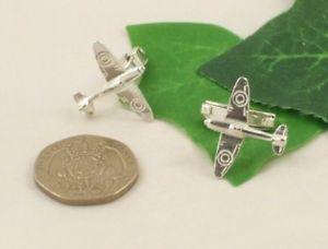 【送料無料】メンズアクセサリ― ソリッドスターリングシルバーカフリンクスascl gents solid sterling silver 925 aeroplane raf spitfire cufflinks