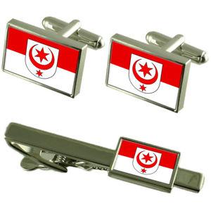 【送料無料】メンズアクセサリ― ハレザーレドイツカフスボタンタイクリップボックスセットhalle saale city germany flag cufflinks tie clip box gift set