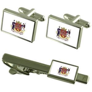 【送料無料】メンズアクセサリ― シティミナスジェライスカフスボタンタイクリップボックスセットuberaba city minas gerais state flag cufflinks tie clip box gift set