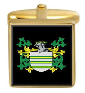 【送料無料】メンズアクセサリ― トゥィーディスコットランドカフスボタンボックスコートtweedie scotland family crest surname coat of arms gold cufflinks engraved box