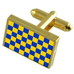 【送料無料】メンズアクセサリ― サリーイングランドゴールドフラッグカフスボタンボックスsurrey county england gold flag cufflinks engraved box