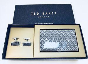 【送料無料】メンズアクセサリ― テッドベーカーカフスボタンカードグレーted baker men cufflinks and cardholder set grey