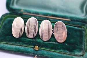 【送料無料】メンズアクセサリ― ビンテージアールデコスターリングシルバーゴールドプレートカフリンクスvintage art deco sterling silver cufflinks with a 9ct gold plate b38