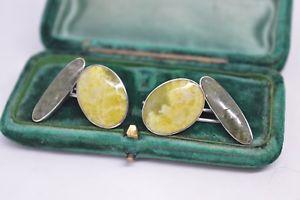 【送料無料】メンズアクセサリ― アールデコb720ヴィンテージスターリングカフスリンクvintage sterling silver cufflinks with an art deco serpentine design b720