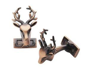 【送料無料】メンズアクセサリ― トロフィーカフスボタンlaksen trophy deer cufflinks copper