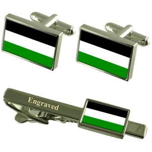 【送料無料】メンズアクセサリ― ゲルゼンキルヒェンドイツカフスボタンタイクリップセットgelsenkirchen city germany flag cufflinks engraved tie clip set