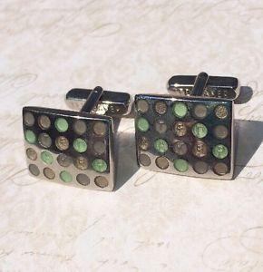 【送料無料】メンズアクセサリ― テッドベーカーカフスボタングリーンエナメルドットスポットted baker cufflinks green enamel dots spots