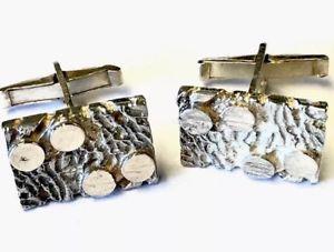 【送料無料】メンズアクセサリ― ビンテージスターリングシルバーモダニストカフスボタンボックスvintage sterling silver modernist cufflinks gift boxed