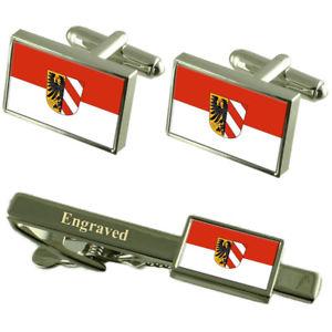 【送料無料】メンズアクセサリ― ニュルンベルクドイツカフスボタンタイクリップセットnuremberg germany flag cufflinks engraved tie clip set