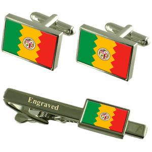 【送料無料】メンズアクセサリ― ロサンゼルスアメリカカフスボタンタイクリップセットlos angeles city usa flag cufflinks engraved tie clip set
