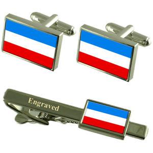 【送料無料】メンズアクセサリ― マンハイムドイツフラグカフスリンクネクタイピンセットmannheim city germany flag cufflinks engraved tie clip set