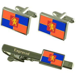 【送料無料】メンズアクセサリ― クラスノヤルスクロシアフラグカフスリンクネクタイピンセットkrasnoyarsk city russia flag cufflinks engraved tie clip set