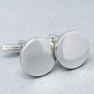 【送料無料】メンズアクセサリ― メンズフォーマルスターリングシルバーラウンドプレーンカフリンクmens formal 925 sterling silver round plain cufflinks   b296