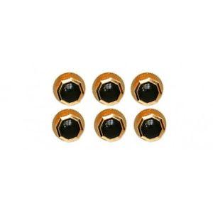【送料無料】メンズアクセサリ― オニキスゴールドプレートドレスシャツスタッドボルトセットonyx gold plate dress shirt studs 6 set
