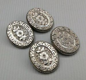 【送料無料】メンズアクセサリ― ヴィンテージビクトリアアールヌーボーソリッドシルバーカフリンクスvintage 19thc victorian art nouveau solid silver foliate floral gents cufflinks