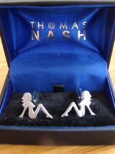 【送料無料】メンズアクセサリ― トーマスボックスナッシュカフリンクスnaked ladies thomas nash cuff links in box