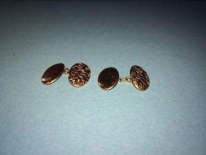 【送料無料】メンズアクセサリ― アンティークローズゴールドチェーンリンクカフスボタンチェスターグラムantique 9ct375 rose gold chain link gents cufflinks chester 1948, 240,grams