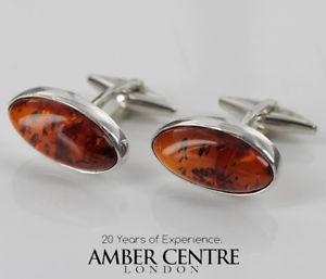 【送料無料】メンズアクセサリ― イタリアクラシックシルバーカフスボタンバルト¥italian made classic 925 silver cufflinks genuine baltic amber cf021 rrp100