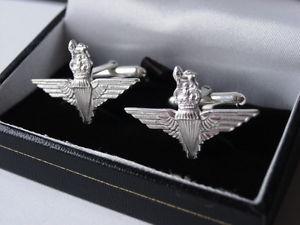 【送料無料】メンズアクセサリ― カフスボタンsterling silver parachure regiment wings cufflinks uk made