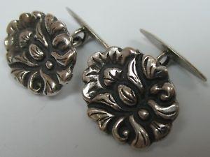 【送料無料】メンズアクセサリ― アールヌーボーカフスボタンhandmade very nice art nouveau cufflinks made of 800 silver