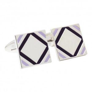 【送料無料】メンズアクセサリ― シルバーパープルカフリンクス925 silver and purple cufflinks