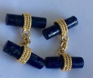 【送料無料】メンズアクセサリ― ラピスラズリカフリンクスlapis lazuli gilt cuff links