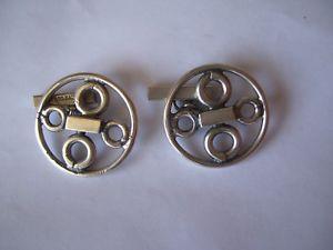 【送料無料】メンズアクセサリ― ビンテージスターリングシルバーvintage sterling silver modernist cufflinkshand made