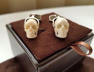 【送料無料】メンズアクセサリ― カフスボタンスカルムースカフリンクス tateossian cufflinks skull moose antler cufflinks