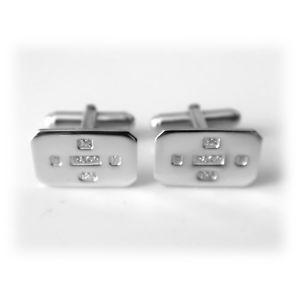 【送料無料】メンズアクセサリ― ソリッドスターリングシルバーカフスボタンカフリンクスfeature hallmarked solid 925 sterling silver rectangle cufflinks cuff links