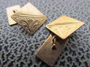 【送料無料】メンズアクセサリ― ビンテージイエローゴールドカフリンクスvintage small 9ct yellow gold cufflinks