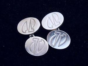 【送料無料】メンズアクセサリ― メンズロンドンソリッドシルバーデザインカフリンクスリンクグラムmens links of london solid silver oval abastract design cufflinks 225 grams