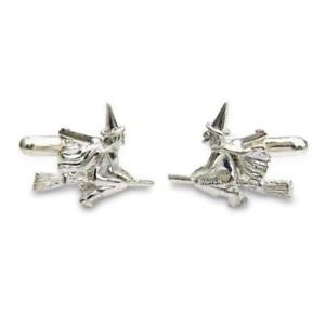 【送料無料】メンズアクセサリ― ソリッドシルバーカフリンクスsolid silver witches cufflinks