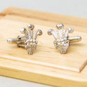 【送料無料】メンズアクセサリ― ウェールズカフリンクススターリングシルバープリンスprince of wales feathers cufflinks sterling silver