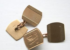 【送料無料】メンズアクセサリ― ソリッドゴールドカフスボタンイニシャルバーミンガムsolid 9 ct gold cufflinks initials md any doctors 1956 birmingham