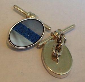 【送料無料】メンズアクセサリ― モダンパールラピスカフスボタンチェーンリンクbeautiful modern 925 silver mother of pearl and lapis cufflinks chain links