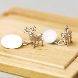 【送料無料】メンズアクセサリ― カフリンクススターリングシルバーstag cufflinks sterling silver