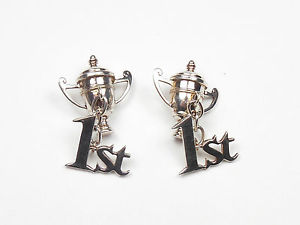 【送料無料】メンズアクセサリ― トロフィーカップスターリングシルバーgcufflinks 1st trophy cup winner 925 sterling silver gents 165g