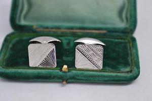 【送料無料】メンズアクセサリ― ビンテージスターリングシルバーアールデコデザインカフリンクスvintage sterling silver cufflinks with an art deco design b701