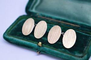 【送料無料】メンズアクセサリ― ビンテージアールデコスターリングシルバーゴールドプレートカフリンクスvintage art deco sterling silver cufflinks with a 9ct gold plate b259